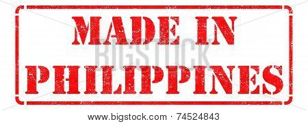 Made in Philippines - Red Rubber Stamp.