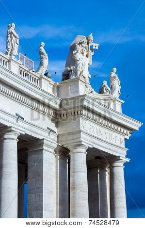 Detail Of Colonnade Of Saint Peter's Square.