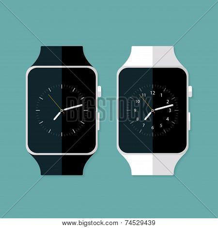 Light And Dark Flat Smart Watches