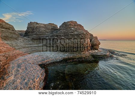 Byrums Raukar - Spectacular Rock Towers At The Shore Of The Island Oeland, Sweden