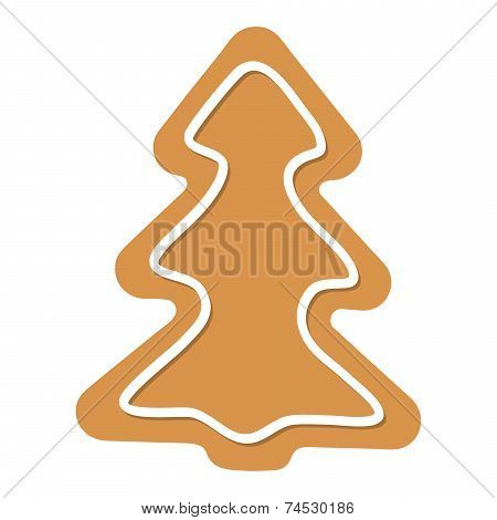 Vector Christmas Tree Gingerbread