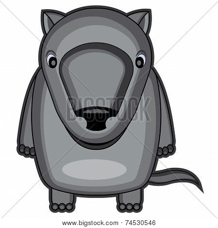 illustration of cute baby wolf