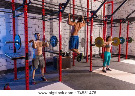 Barbell weight lifting group weightlifting workout exercise gym