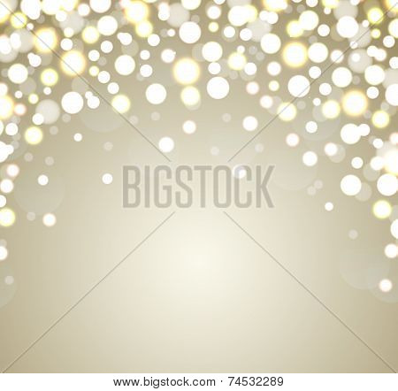 Christmas Background. Abstract Golden Defocused Background.