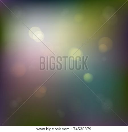 Old Festive Background. Abstract Defocused Background With Twinkling Lights