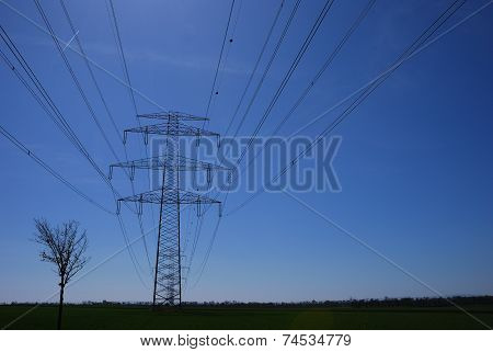 Lot Of Electricity Pylons