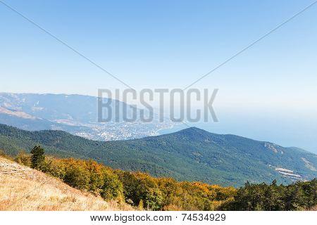 View Of Black Sea And Southern Coast Of Crimea