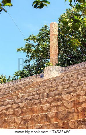 Ancient Tribune In Mexico