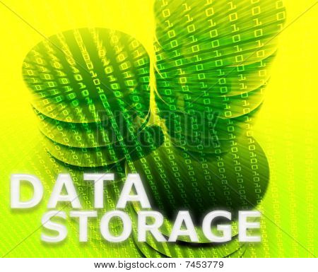 Data Storage Illustration