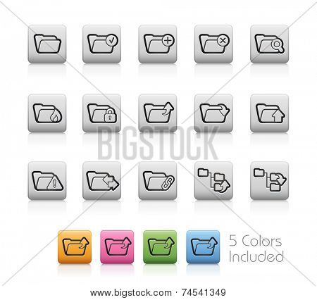 Folders 1 // Outline Button +++ Each color in a layer / To see the desired color, you need to make it visible in the layer panel +++ EPS 10+ / Contain Transparencies.