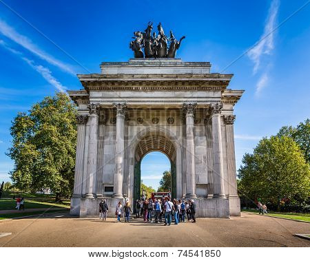 Wellington Arch, Aka Constitution Arch Or The Green Park Arch, Is A Triumphal Arch In London, United