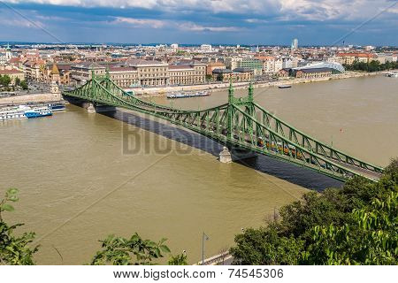 Liberty Bridge In Budapest.