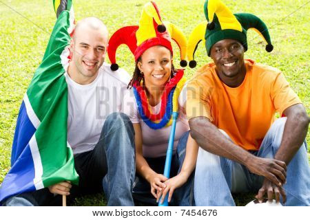 group of sports fans