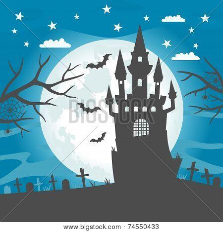 Halloween castle wallpaper
