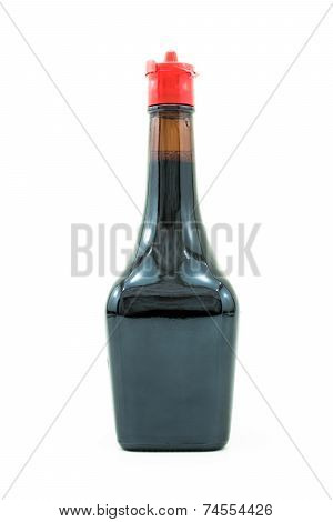 Bottle Of Soy Sauce Isolated On White Background0