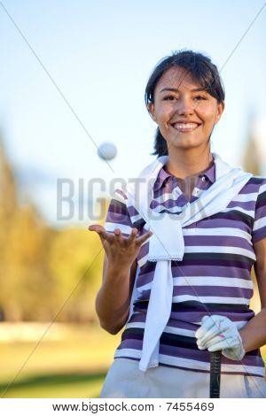 Beautiful Golf Player