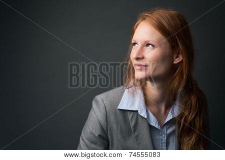 Happy Female Corporate Leader
