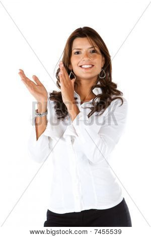 Business Woman Applauding