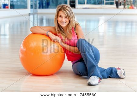 Woman At The Gym Smiling