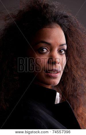 Beautiful African Girl Intense Look
