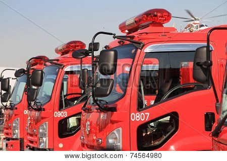 Japanese fire engines in low