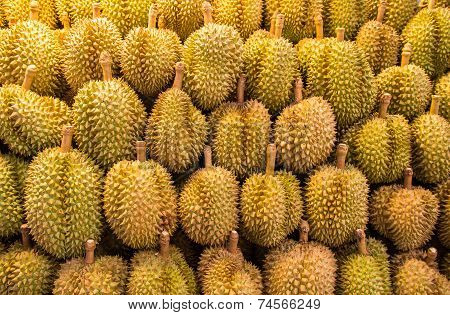 Durian Fruit In The Market