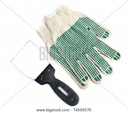 Scraper And Gloves