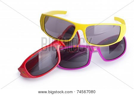 three pairs of glasses in different designs