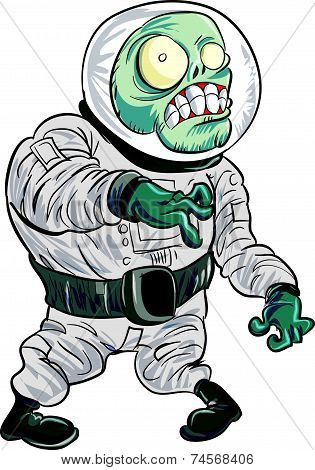Cartoon zombie astronaut