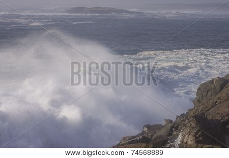 Crashing Atlantic sea