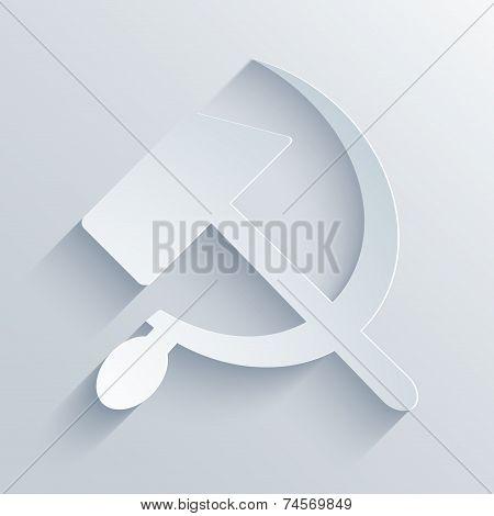vector modern sickle and hammer symbol background.