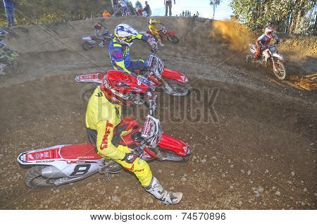 Motocross In Nava, Asturias, Spain..