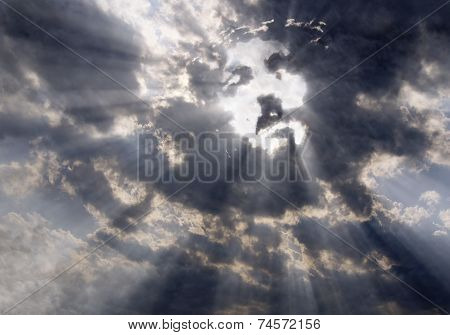The Face Of Christ In The Sky