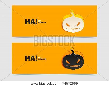 Black and wight smile pumpkin paper cut out
