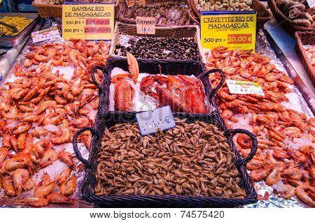 Fresh shrimp for sale