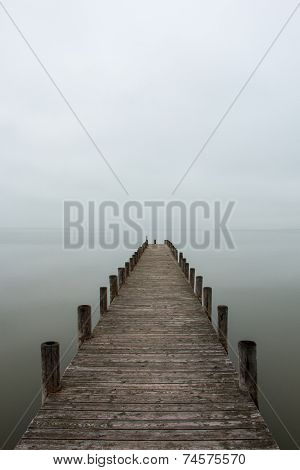Jetty In Foggy Weather (vertical)