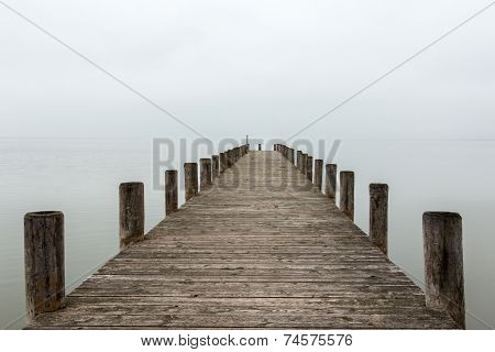 Jetty In Foggy Weather (horizontal)