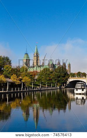 Parliament Hill From The Rideau Canal
