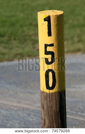 Fairway 150 meter marker
