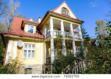 Made Of Brick Residential Building In Zakopane