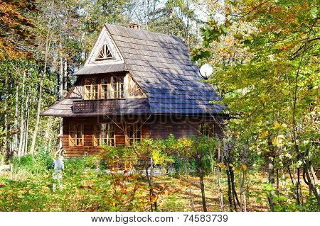 Traditional Wooden House In Zakopane