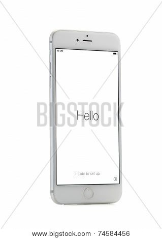 MOSCOW, RUSSIA - OCTOBER 4, 2014: New iPhone 6 Plus is a smartphone developed by Apple Inc. Apple re