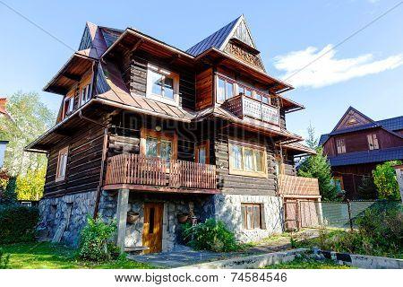 Wooden Residential Building In Zakopane