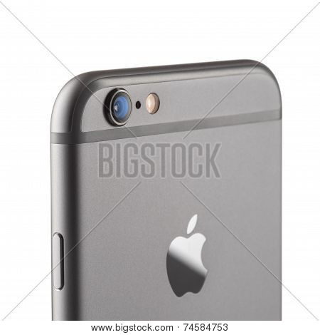 MOSCOW, RUSSIA - SEPTEMBER 26, 2014: Photo of camera iPhone 6 is a smartphone developed by Apple Inc