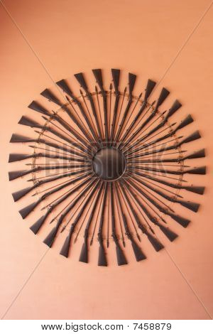 Weapons In City Palace Museum, Jaipur, India