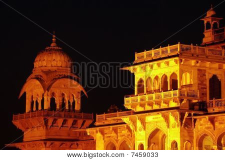 Central Museum At Night, Jaipur, India