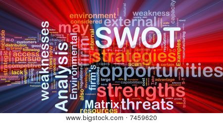 Swot Analysis Background Concept Glowing