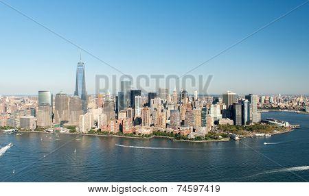 Aerial View Of Manhattan, New York