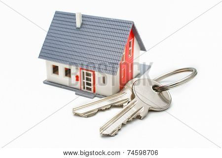 House with keys, home buying, ownership or security concept