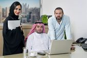 picture of hijabs  - Multiracial Business Meeting in office  - JPG